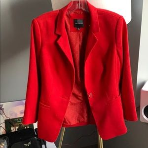 Red blazer 3/4 sleeve